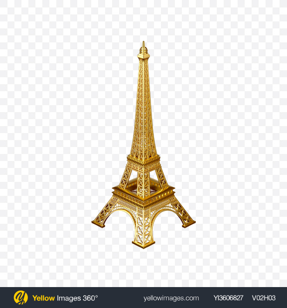 Download Gold Eiffel Tower Figurine Transparent PNG on PNG Images