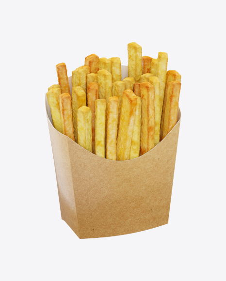 Potato Fries In Craft Package