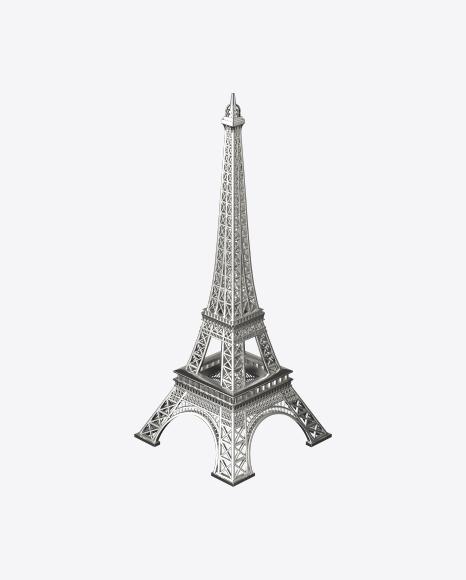 Silver Eiffel Tower Figurine