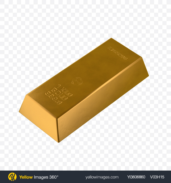 Download Gold Bar Transparent PNG on Yellow Images 360°