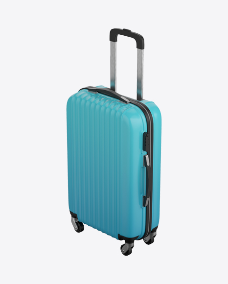 Blue Rolling Suitcase