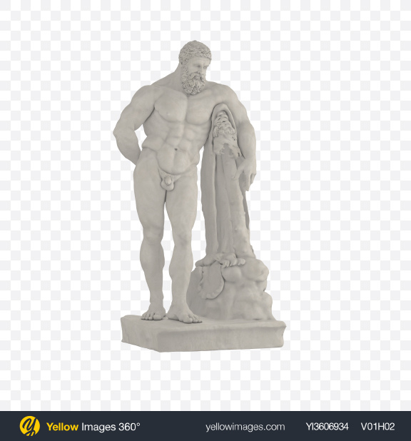 Download Hercules Statue Transparent PNG on Yellow Images 360°