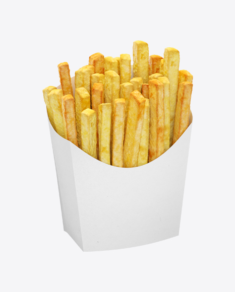 Potato Fries In White Package