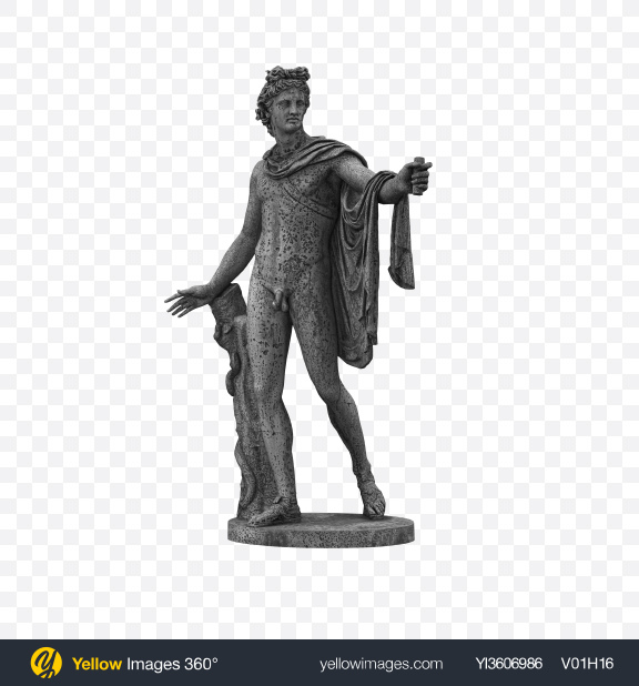 Download Apollo Belvedere Statue Transparent PNG on Yellow Images 360°
