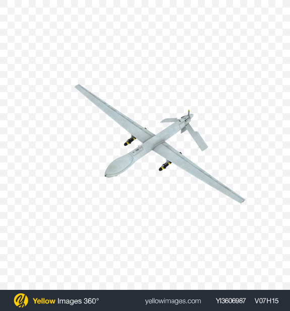 Download Unmanned Military Aircraft Transparent PNG on Yellow Images 360°