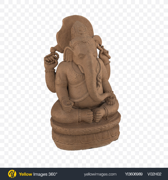Download Ganesha Statue Transparent PNG on Yellow Images 360°