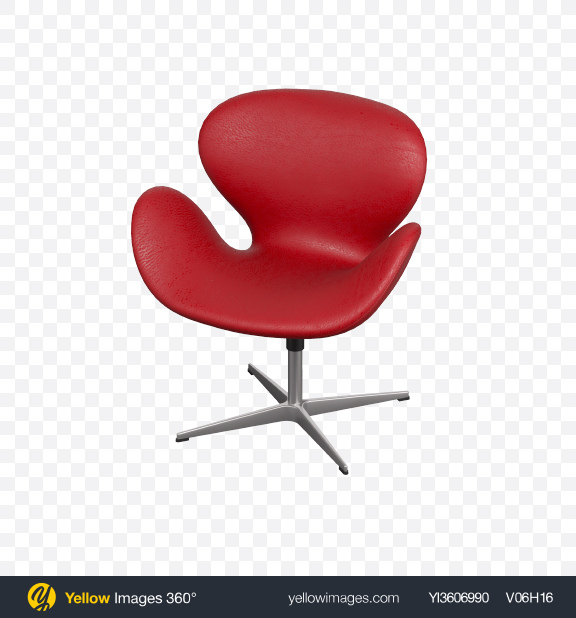 Download Red Leather Chair Transparent PNG on Yellow Images 360°