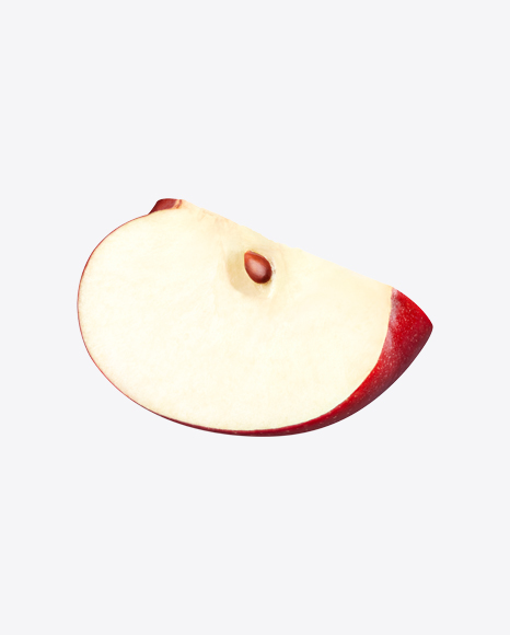 Slice of Red Apple