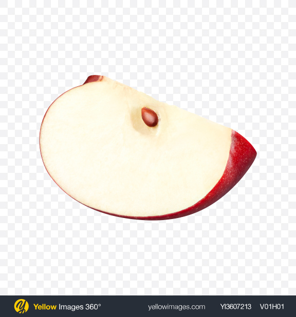 Download Slice of Red Apple Transparent PNG on YELLOW Images