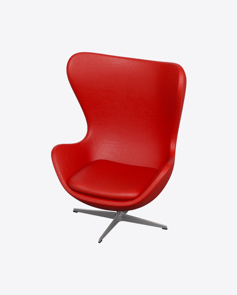 Red Leather Egg Chair