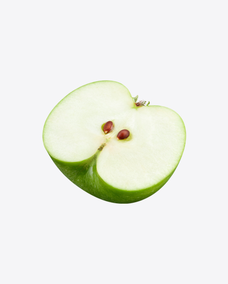 Half of Green Apple