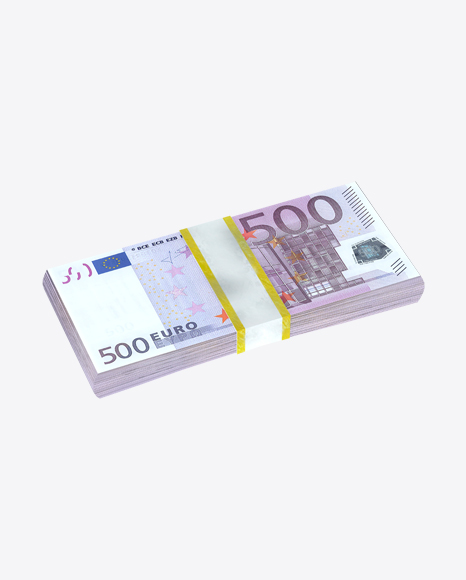 Stack of 500 Euro Banknotes