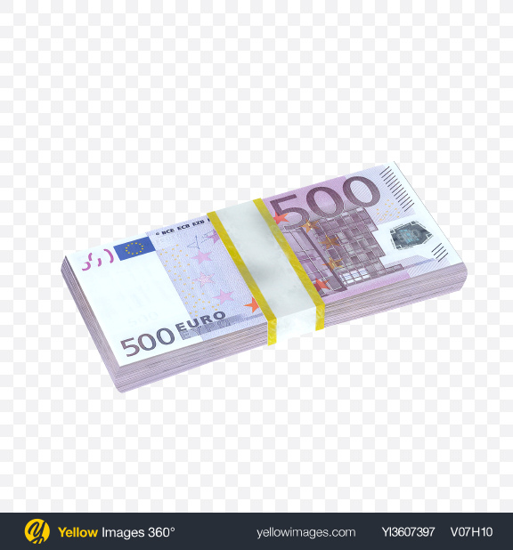 Download Stack of 500 Euro Banknotes Transparent PNG on PNG Images