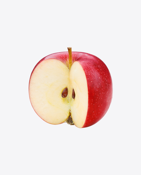 Cutted Red Apple