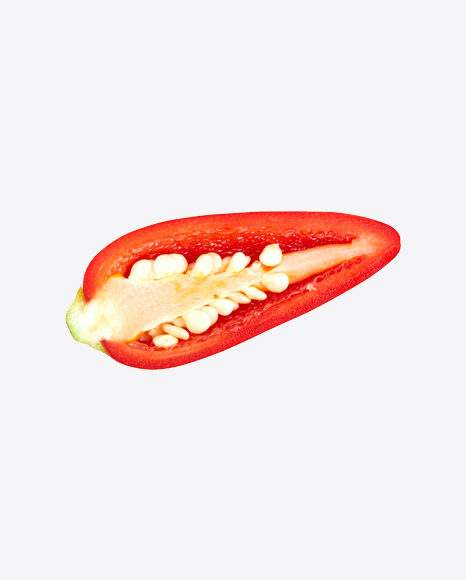 Half of Red Chili Pepper