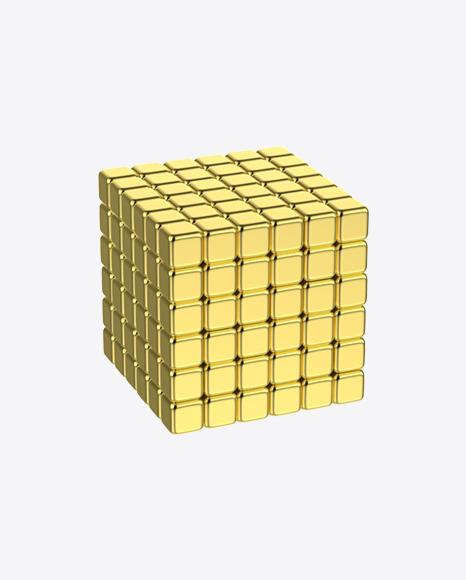 Gold Neodymium Square Magnet Toy