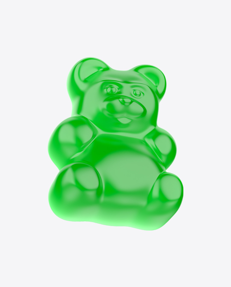 Green Gummy Bear Candy