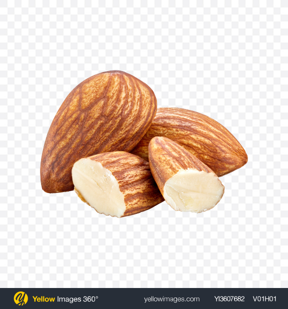 Download Almond Nuts Transparent PNG on YELLOW Images