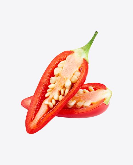 Halfs of Red Chili Pepper