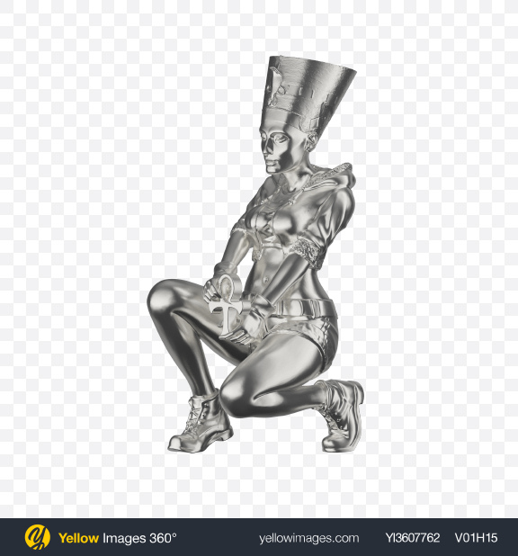 Download Silver Nefertiti Figurine Transparent PNG on PNG Images