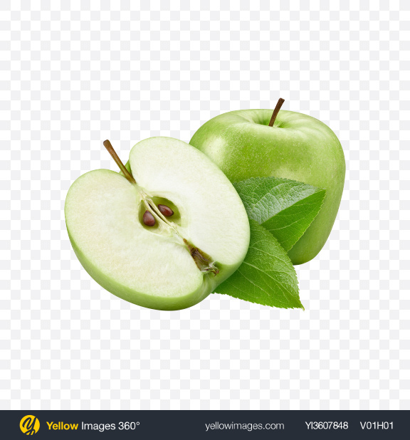 Download Green Apples Transparent PNG on YELLOW Images