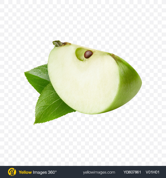 Download Green Apple Slice Transparent PNG on YELLOW Images
