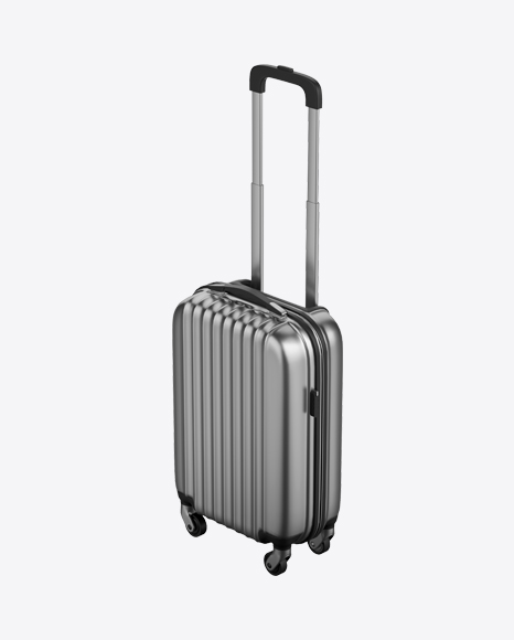 Metallic Rolling Suitcase