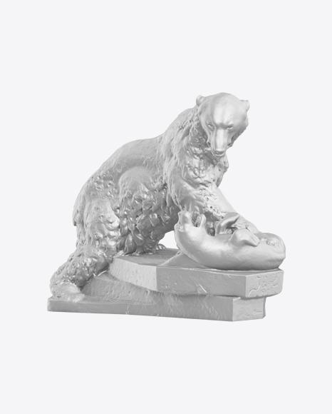 Bear & Seal Sculpture