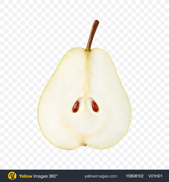 Download Half of Pear Transparent PNG on YELLOW Images