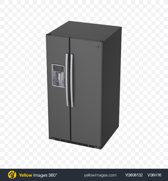 Download Refrigerator with Ice Maker Transparent PNG on YELLOW Images