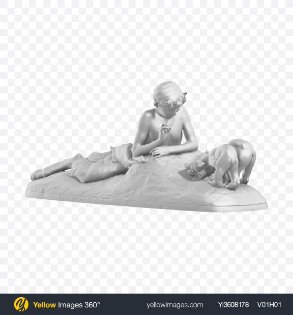 Download Faun with dogs Sculpture Transparent PNG on YELLOW Images
