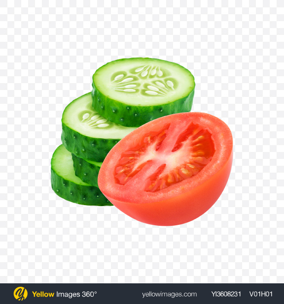 Download Tomatoes & Cucumbers Transparent PNG on YELLOW Images