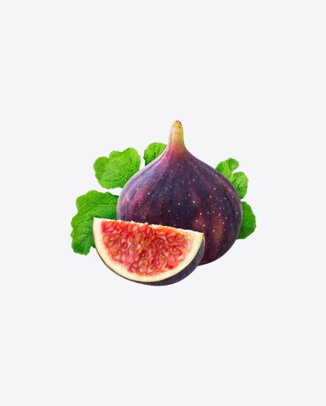 Fig Fruits w/ Leaf