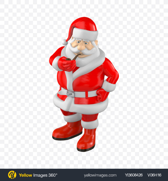 Download Plastic Santa Claus Toy Transparent PNG on YELLOW Images