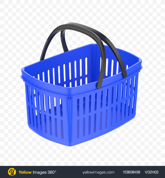 Download Blue Shopping Basket Transparent PNG on YELLOW Images