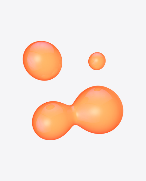 Orange Metaball Element