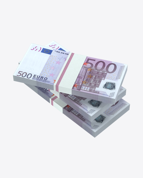 Stacks of 500 Euro Banknotes