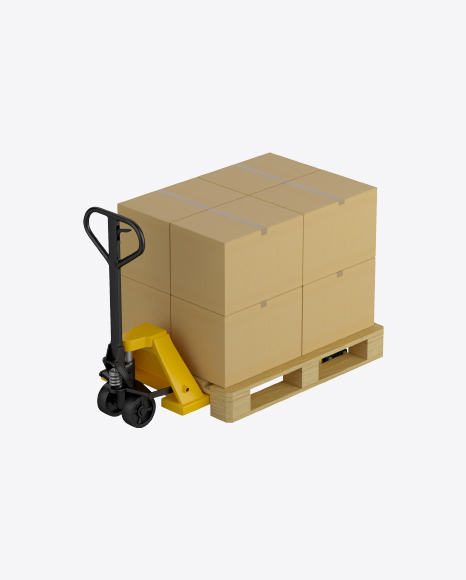 Hand Pallet Truck with Boxes
