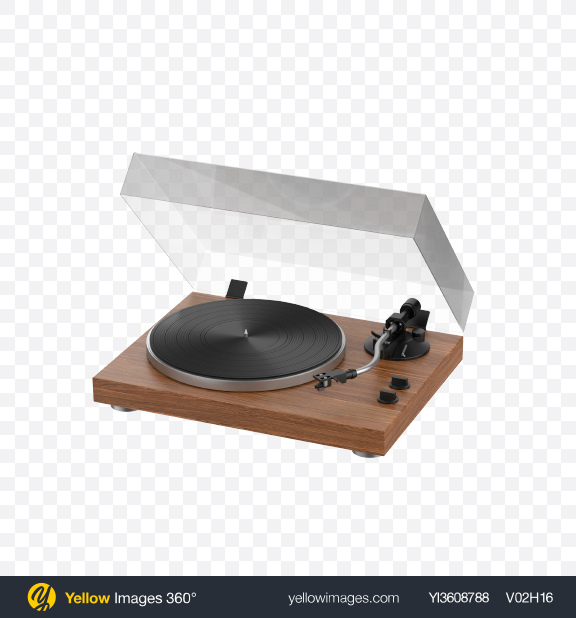 Download Vinyl Record Player Transparent PNG on YELLOW Images