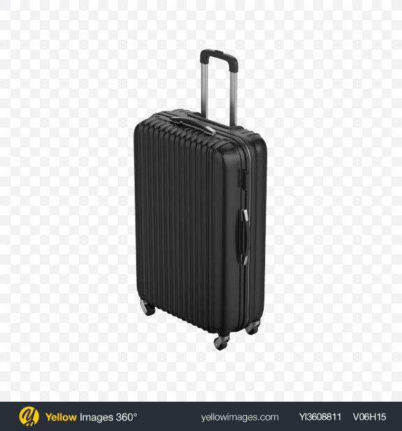 Download Black Rolling Suitcase Transparent PNG on PNG Images