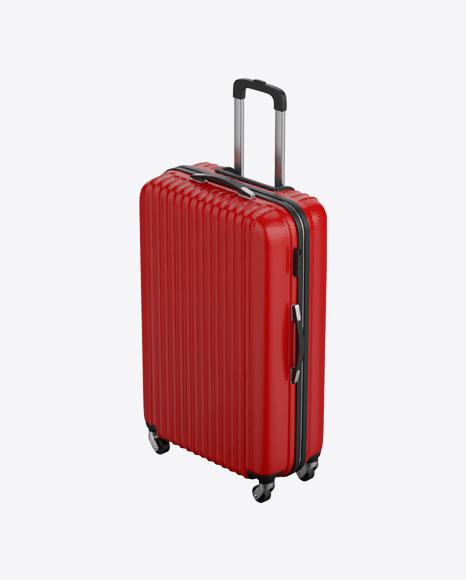 Red Rolling Suitcase