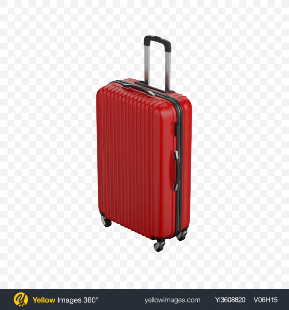 Download Red Rolling Suitcase Transparent PNG on PNG Images