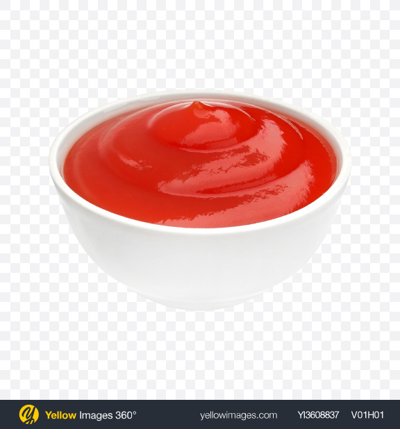 Download Ketchup in Ceramic Bowl Transparent PNG on PNG Images