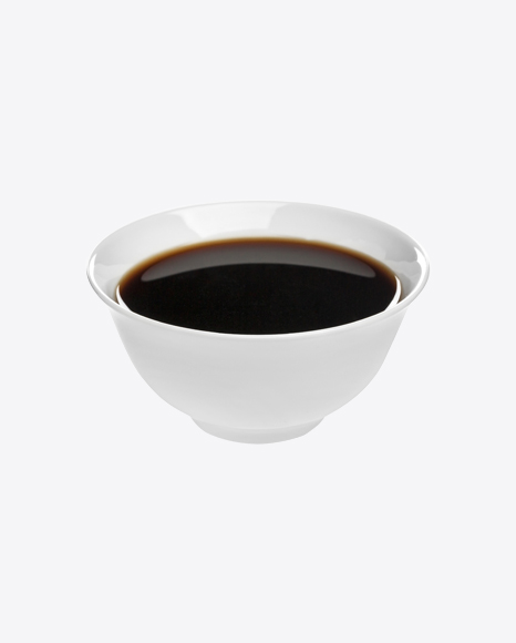 Soy Sauce in Ceramic Bowl