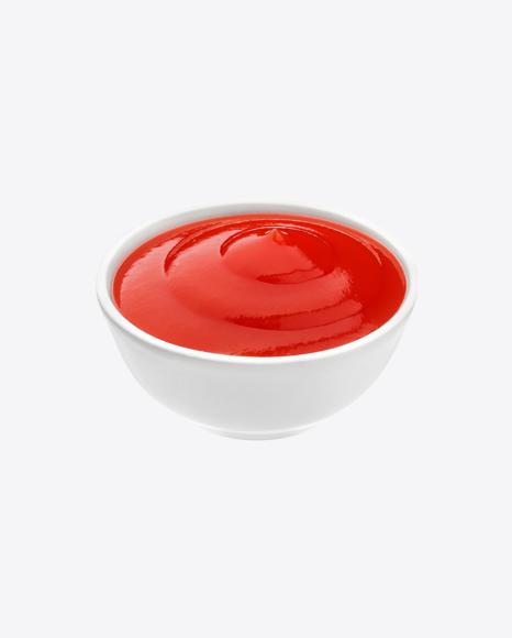 Ketchup in Ceramic Bowl