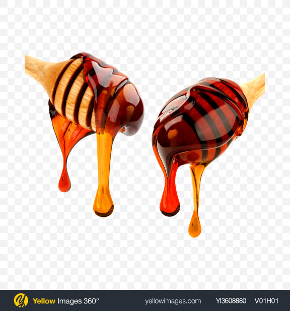 Download Wooden Dippers w/ Honey Transparent PNG on YELLOW Images