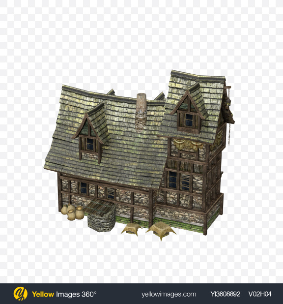 Download Medieval House Transparent PNG on YELLOW Images