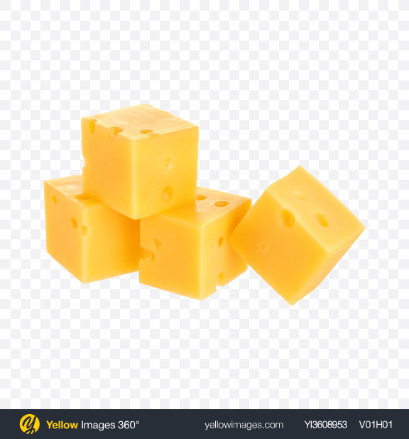 Download Cheese Cubes Transparent PNG on YELLOW Images