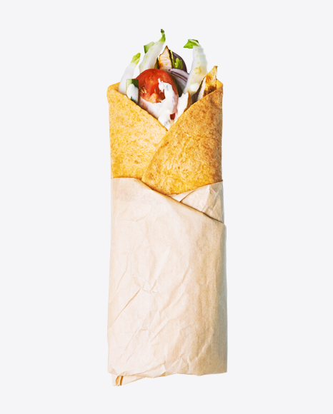 Roll w/ Vegetables in Paper Wrap