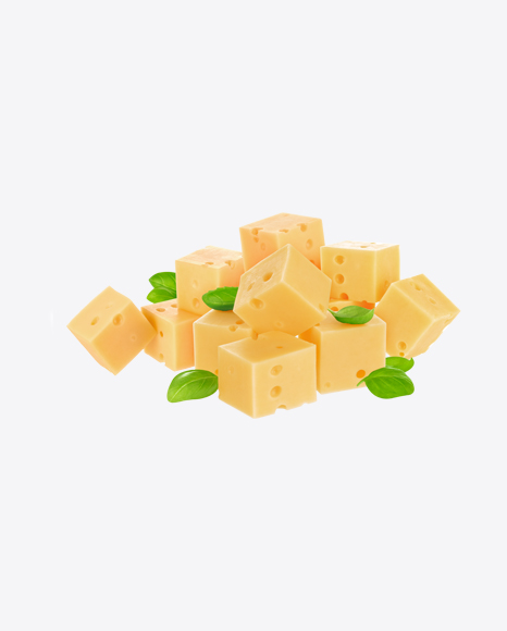 Maasdam Cheese Cubes w/ Greens